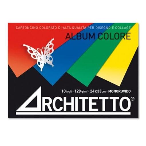 Image de ALBUM ARCHITETTO 24X33 CM 10FG 128G MONORUVIDO COLORATO