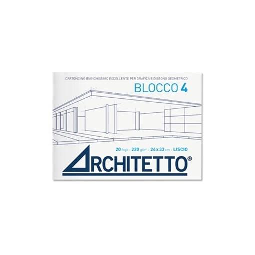 Image de ALBUM ARCHITETTO 24X33 CM 20FG 110GR LISCIO