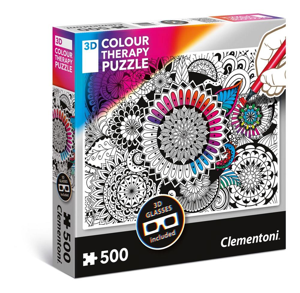 Immagine di PUZZLE CLEMENTONI COLOUR THERAPY 3D 500 PEZZI