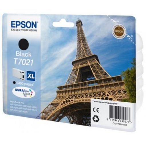 Image de CARTUCCIA EPSON T7021 NERO XL WP-4012/4025/4095/4515/4525/45