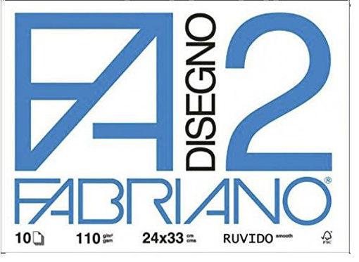 Image de ALBUM FABRIANO 24X33 F2 RUVIDO 110 G/MQ 10 FOGLI